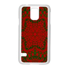 Christmas Kaleidoscope Samsung Galaxy S5 Case (white) by Nexatart