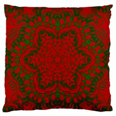 Christmas Kaleidoscope Standard Flano Cushion Case (two Sides) by Nexatart