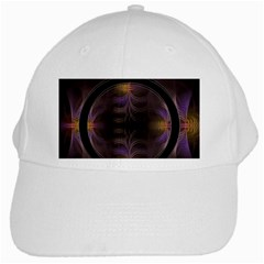 Wallpaper With Fractal Black Ring White Cap by Nexatart