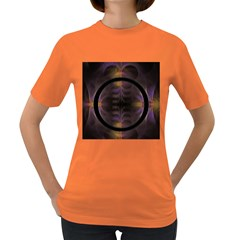 Wallpaper With Fractal Black Ring Women s Dark T Shirt