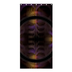 Wallpaper With Fractal Black Ring Shower Curtain 36  X 72  (stall)  by Nexatart
