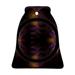 Wallpaper With Fractal Black Ring Ornament (bell)
