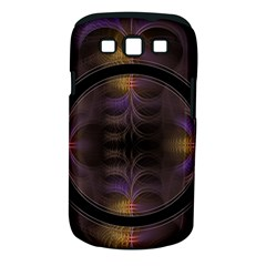 Wallpaper With Fractal Black Ring Samsung Galaxy S Iii Classic Hardshell Case (pc+silicone) by Nexatart