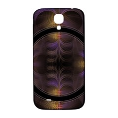 Wallpaper With Fractal Black Ring Samsung Galaxy S4 I9500/i9505  Hardshell Back Case by Nexatart