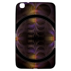 Wallpaper With Fractal Black Ring Samsung Galaxy Tab 3 (8 ) T3100 Hardshell Case