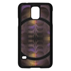 Wallpaper With Fractal Black Ring Samsung Galaxy S5 Case (black)