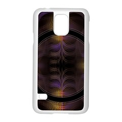 Wallpaper With Fractal Black Ring Samsung Galaxy S5 Case (white)