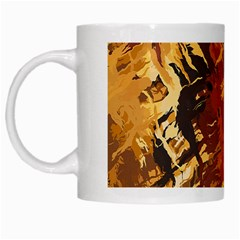Abstraction Abstract Pattern White Mugs