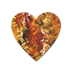 Abstraction Abstract Pattern Heart Magnet by Nexatart