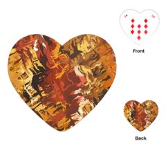 Abstraction Abstract Pattern Playing Cards (heart)  by Nexatart