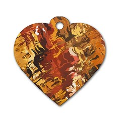 Abstraction Abstract Pattern Dog Tag Heart (One Side)