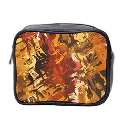 Abstraction Abstract Pattern Mini Toiletries Bag 2 Side by Nexatart