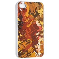Abstraction Abstract Pattern Apple Iphone 4/4s Seamless Case (white)