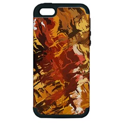 Abstraction Abstract Pattern Apple Iphone 5 Hardshell Case (pc+silicone) by Nexatart