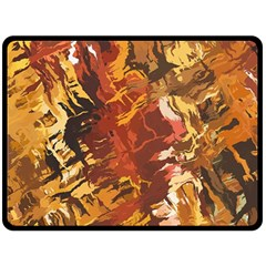 Abstraction Abstract Pattern Double Sided Fleece Blanket (large)  by Nexatart