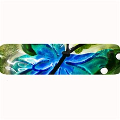 Blue Spotted Butterfly Art In Glass With White Spots Large Bar Mats by Nexatart