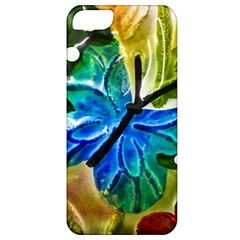 Blue Spotted Butterfly Art In Glass With White Spots Apple Iphone 5 Classic Hardshell Case