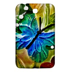 Blue Spotted Butterfly Art In Glass With White Spots Samsung Galaxy Tab 3 (7 ) P3200 Hardshell Case  by Nexatart