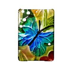 Blue Spotted Butterfly Art In Glass With White Spots Ipad Mini 2 Hardshell Cases