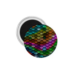 Fish Scales Pattern Background In Rainbow Colors Wallpaper 1 75  Magnets by Nexatart