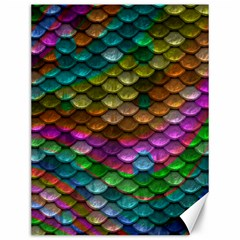Fish Scales Pattern Background In Rainbow Colors Wallpaper Canvas 12  X 16