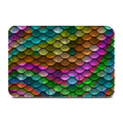 Fish Scales Pattern Background In Rainbow Colors Wallpaper Plate Mats
