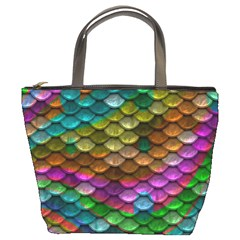 Fish Scales Pattern Background In Rainbow Colors Wallpaper Bucket Bags