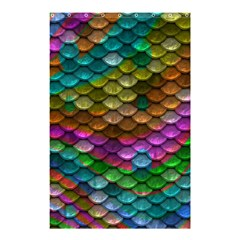 Fish Scales Pattern Background In Rainbow Colors Wallpaper Shower Curtain 48  X 72  (small)