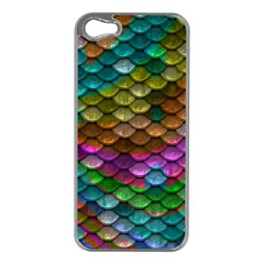 Fish Scales Pattern Background In Rainbow Colors Wallpaper Apple Iphone 5 Case (silver)