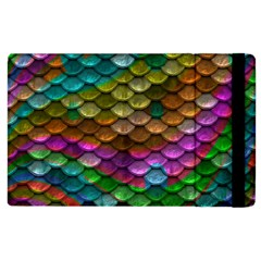 Fish Scales Pattern Background In Rainbow Colors Wallpaper Apple Ipad 3/4 Flip Case
