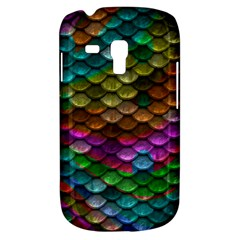 Fish Scales Pattern Background In Rainbow Colors Wallpaper Galaxy S3 Mini by Nexatart