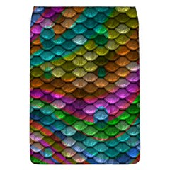 Fish Scales Pattern Background In Rainbow Colors Wallpaper Flap Covers (l)  by Nexatart