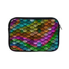 Fish Scales Pattern Background In Rainbow Colors Wallpaper Apple Ipad Mini Zipper Cases by Nexatart