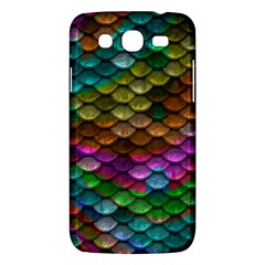 Fish Scales Pattern Background In Rainbow Colors Wallpaper Samsung Galaxy Mega 5 8 I9152 Hardshell Case  by Nexatart