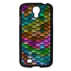 Fish Scales Pattern Background In Rainbow Colors Wallpaper Samsung Galaxy S4 I9500/ I9505 Case (black) by Nexatart