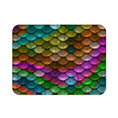 Fish Scales Pattern Background In Rainbow Colors Wallpaper Double Sided Flano Blanket (mini)  by Nexatart