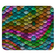 Fish Scales Pattern Background In Rainbow Colors Wallpaper Double Sided Flano Blanket (small)