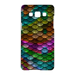 Fish Scales Pattern Background In Rainbow Colors Wallpaper Samsung Galaxy A5 Hardshell Case  by Nexatart