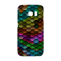 Fish Scales Pattern Background In Rainbow Colors Wallpaper Galaxy S6 Edge
