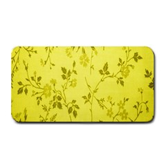 Flowery Yellow Fabric Medium Bar Mats