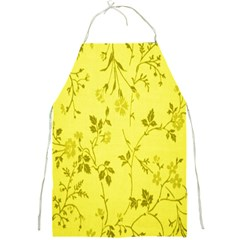 Flowery Yellow Fabric Full Print Aprons