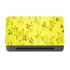 Flowery Yellow Fabric Memory Card Reader With Cf