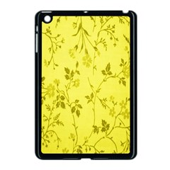 Flowery Yellow Fabric Apple Ipad Mini Case (black) by Nexatart