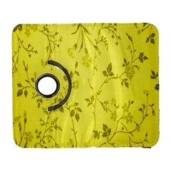 Flowery Yellow Fabric Galaxy S3 (flip/folio) by Nexatart