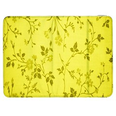 Flowery Yellow Fabric Samsung Galaxy Tab 7  P1000 Flip Case by Nexatart