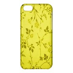 Flowery Yellow Fabric Apple Iphone 5c Hardshell Case by Nexatart