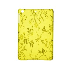 Flowery Yellow Fabric Ipad Mini 2 Hardshell Cases by Nexatart