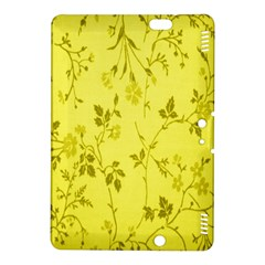 Flowery Yellow Fabric Kindle Fire Hdx 8 9  Hardshell Case