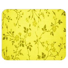 Flowery Yellow Fabric Double Sided Flano Blanket (medium)