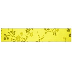 Flowery Yellow Fabric Flano Scarf (large) by Nexatart